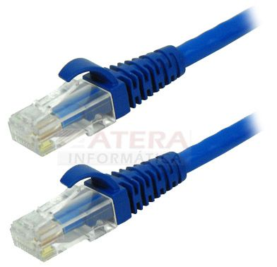 Patch Cord Cat5E 1,5MTs Azul