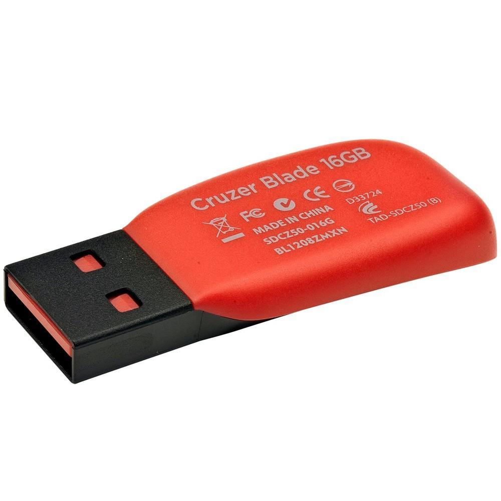 PEN DRIVE 16GB Z50 CRUZER BLADE SANDISK-SDCZ50-016G-B35  sdcz50-016b-b35*