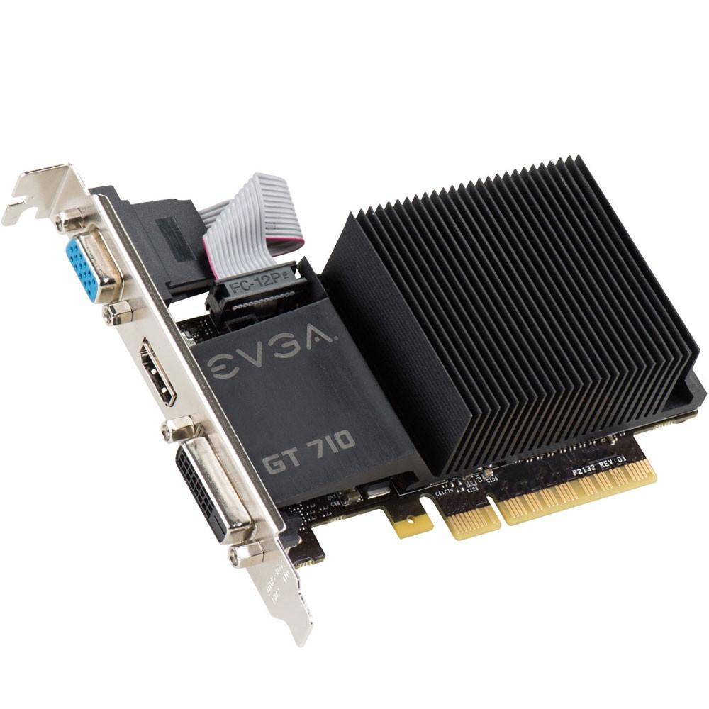 Placa de Vídeo EVGA NVIDIA GeForce GT 710 2GB, DDR3