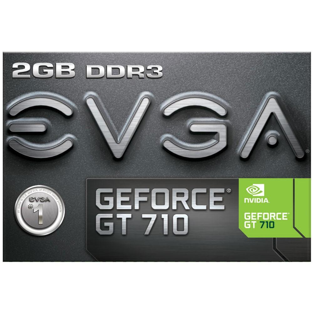 Placa de Vídeo EVGA NVIDIA GeForce GT 710 2GB, DDR3