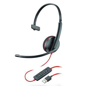 Plantronics Headset BlackWire C3210, Monoauricular (USB)*