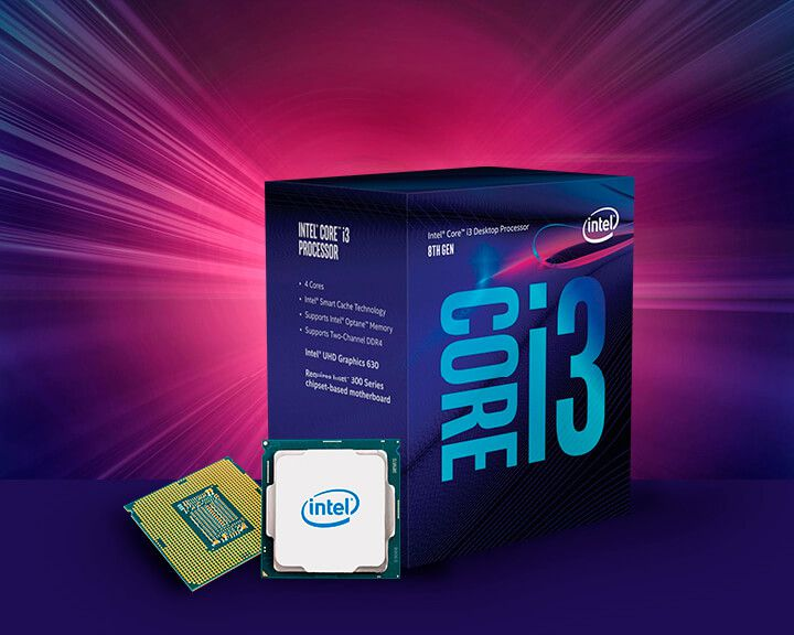 Processador Intel Core I3-8100 Coffee Lake 3.6GHz 6MB BX80684I38100