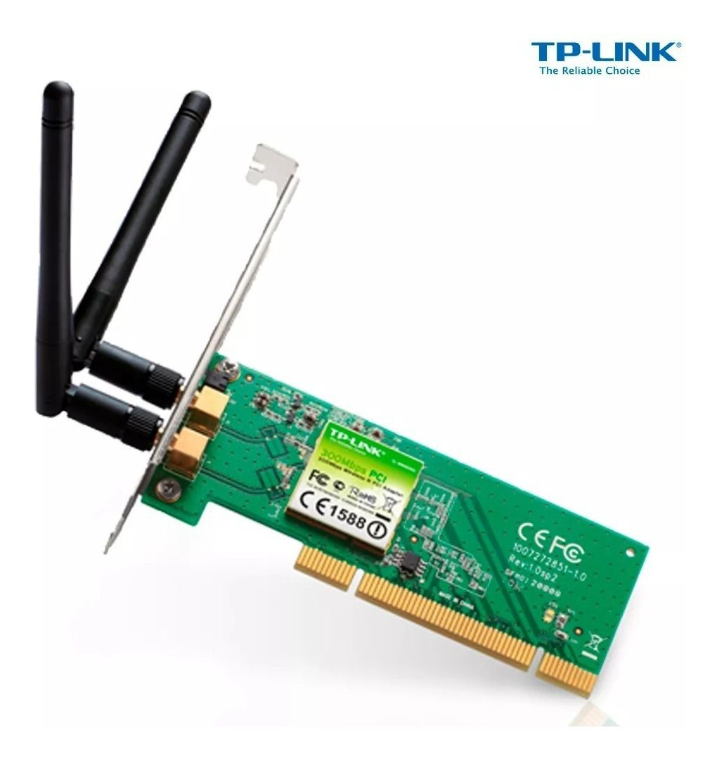 Rede PCI Wirelles 300 MBPS TP-Link TL-WN851ND*