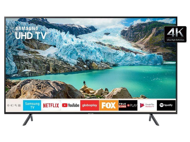 """SAMSUNG SMART TV UHD 4K RU7100 58"""", VISUAL LIVRE DE CABOS, CONTROLE UNICO E BLUETOOTH"""