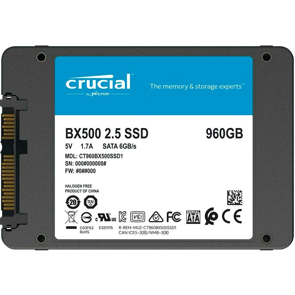 SSD 960GB BX500 SATA3 2,5 CRUCIAL- CT960BX500SSD1