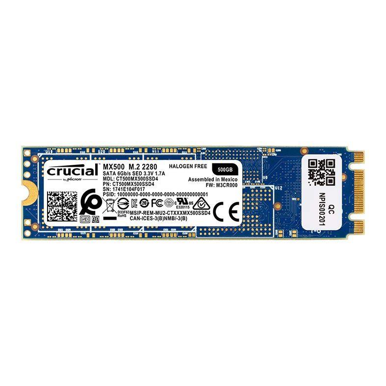 SSD CRUCIAL MX500 M.2 500GB 3D NAND 2280, CT500MX500SSD4