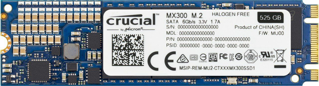SSD M.2 525GB Crucial Mx300 Type 2280ss CT525MX300SSD4