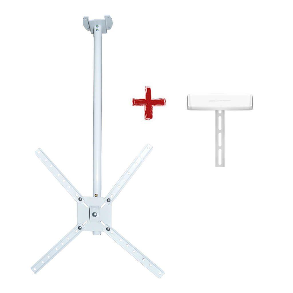 Suporte de TETO para TV LED, LCD, Plasma, 3D e Smart TV de 10? a 55? - Brasforma SBRP 150B - SBRP150B