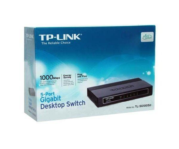 Switch TP-Link 05pt TL-SG1005D Gigabit  de Mesa V7