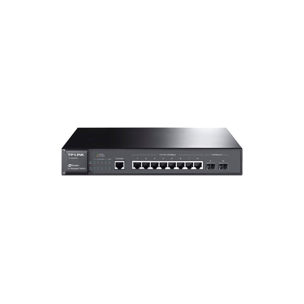 Switch TP-Link 08pt T2500-10TS (TL-SG3210) Gigabit L2 e 2 SFP Slots