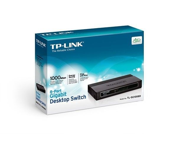 Switch TP-Link 08pt TL-SG1008D Gigabit 10/100/1000 ETH (SMB) - TL-SG1008D