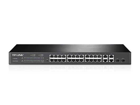Switch TP-Link 24pt TL-SL2428 10/100 4 pt Gigabit 2 Slot SFP (SMB)