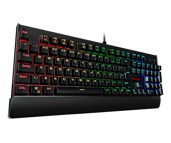 Teclado Mecânico Gamer Redragon Kala RGB K557RGB Switch Outemu Black