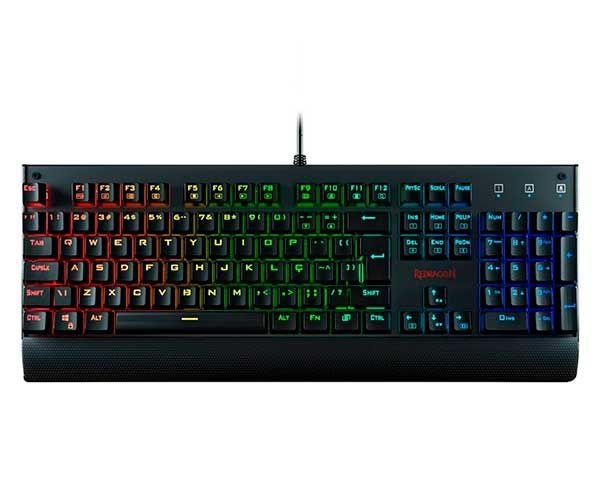 Teclado Mecânico Gamer Redragon Kala RGB K557RGB Switch Outemu Blue