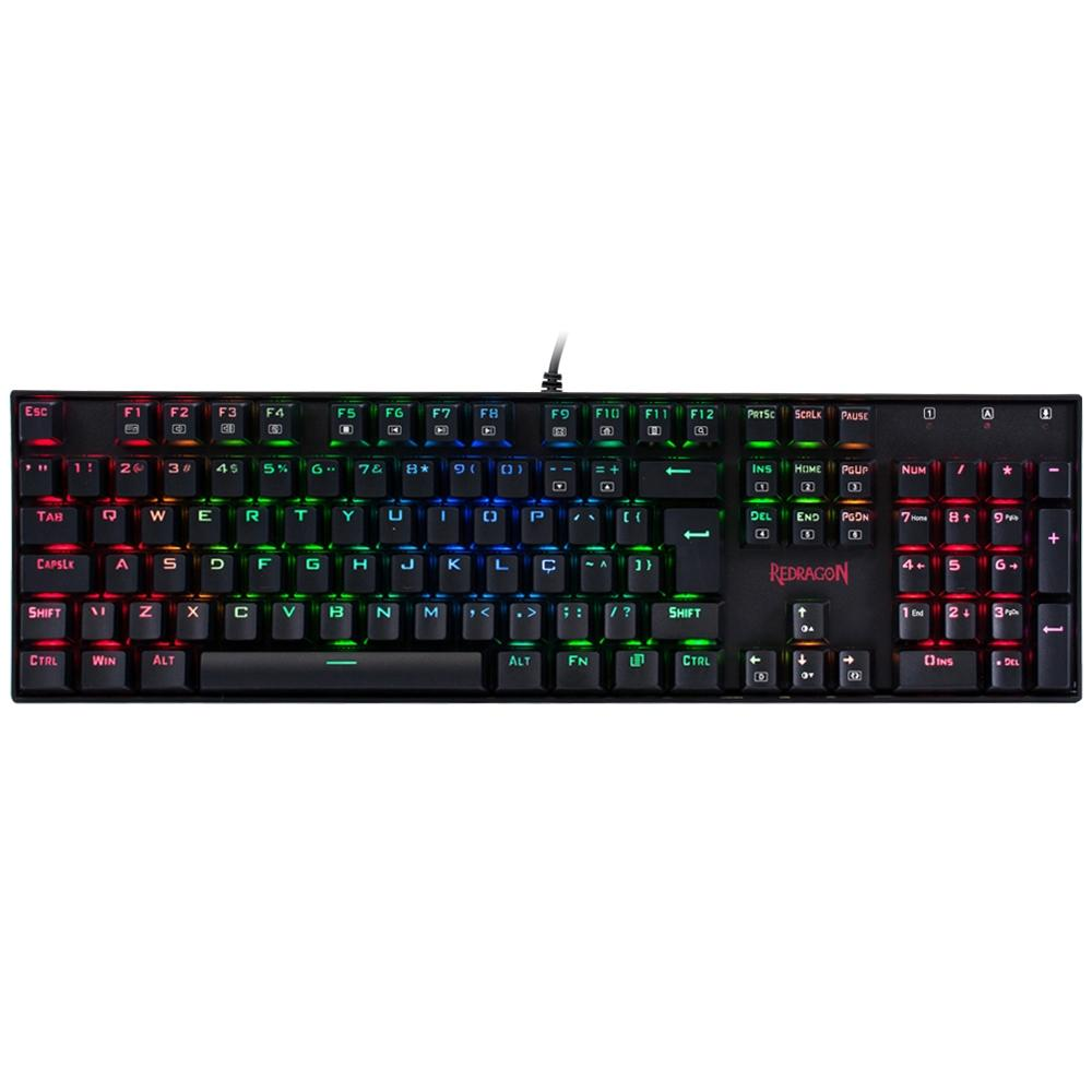 Teclado Mecânico Gamer Redragon Mitra K551 Switch Outemu Blue