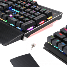 Teclado Mecânico Gamer Redragon Rahu K567-RGB Switch Outemu Black