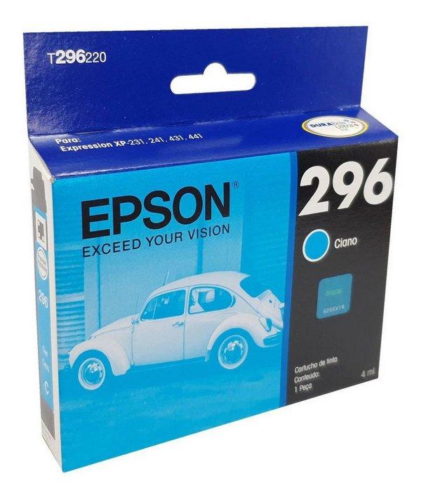 Tinta p/ cartucho da impressora Epson XP 241 ciano