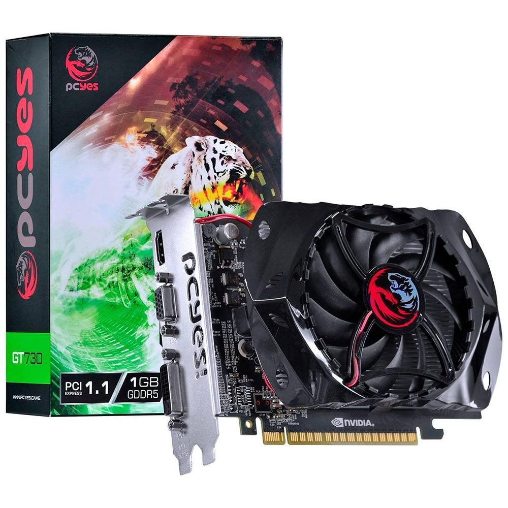 VGA GeForce 1GB GT730 DDR3 128 Bits GDDR5 - PY730GT12801G5