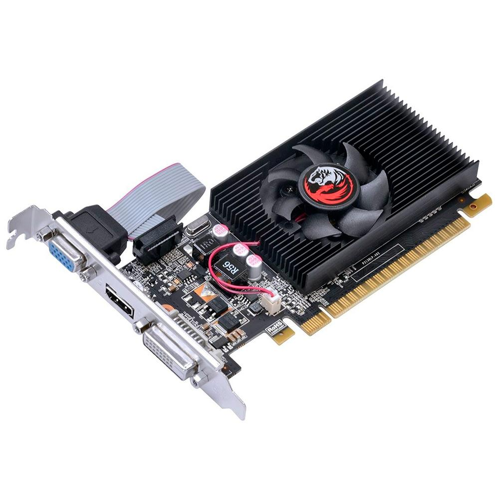 VGA GeForce 2GB GT710 Pcyes DDR3 64Bits Low Profile PA710GT6402D3LP - PA710GT6402D3LP