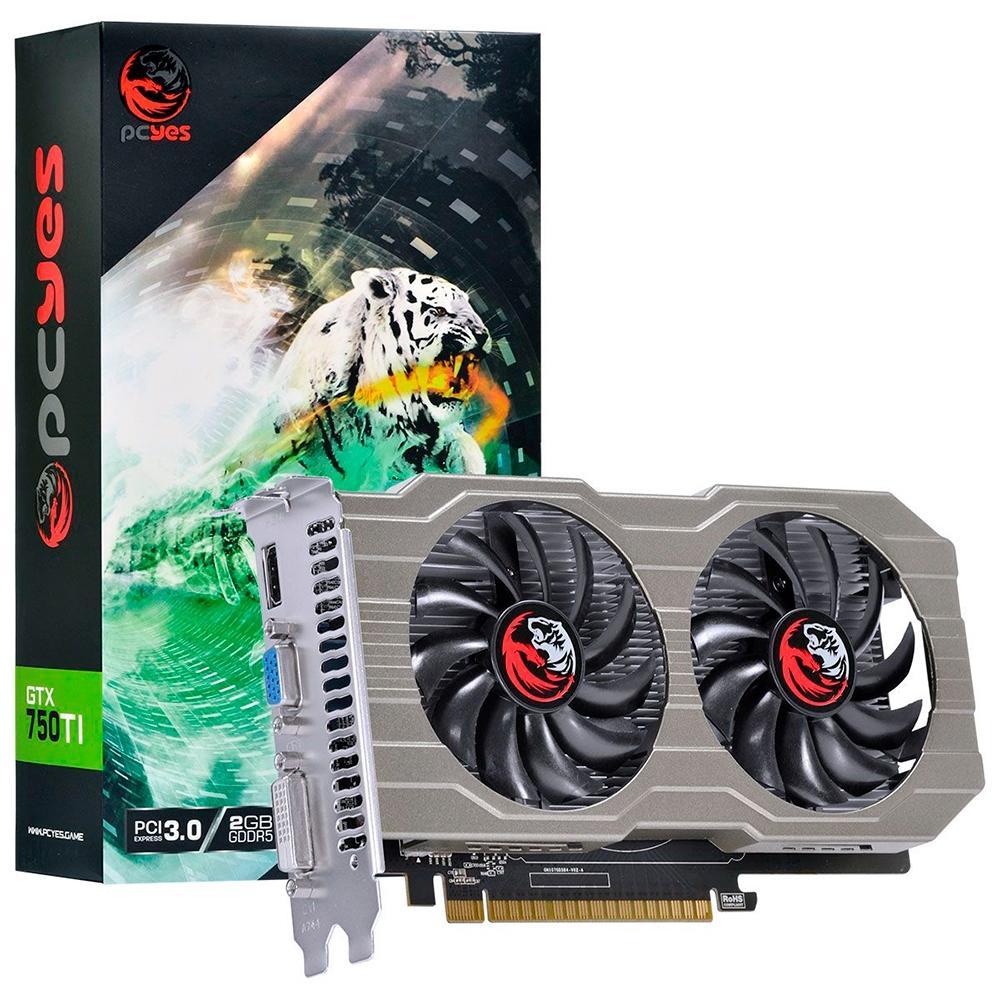 VGA GeForce 2GB GTX750TI DDR5 128 bits Dual-Fan PA750TI12802G5