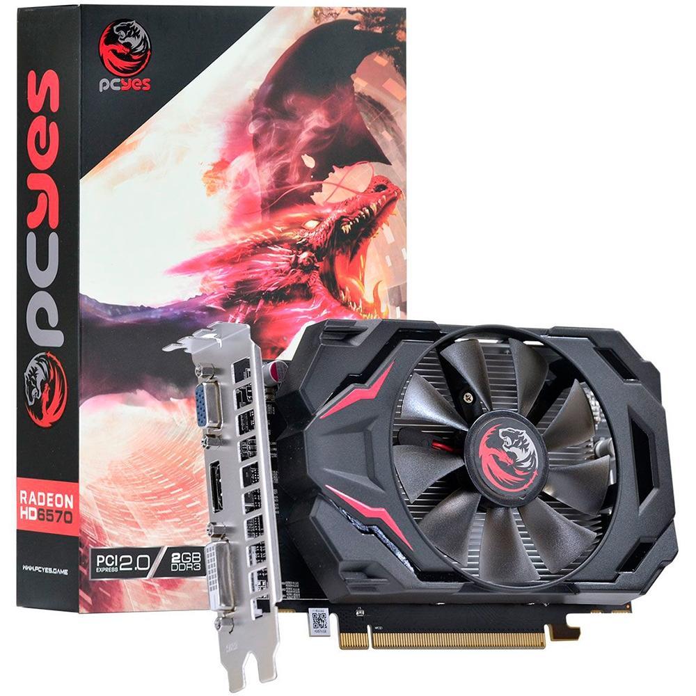 VGA Radeon 2GB HD6570 Pcyes DDR3 128 bits PW657012802D3 - PW657012802D3