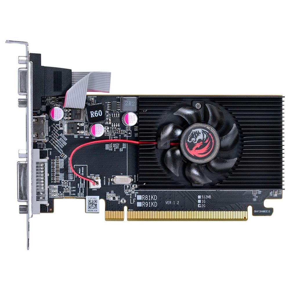 VGA Radeon 2GB R5 230 DDR3 Low Profile Pcyes 64Bits PW230R56402D3LP - PW230R56402D3