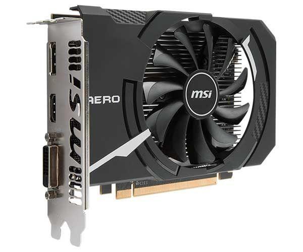 VGA Radeon 4GB RX 560 AERO ITX  OC GDDR5 128BIT MSI - RX 560 AERO 4GB ITX OC