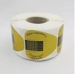 10 Moldes Adesivos Coração Para Unha De Porcelana E Gel c/ 500 un
