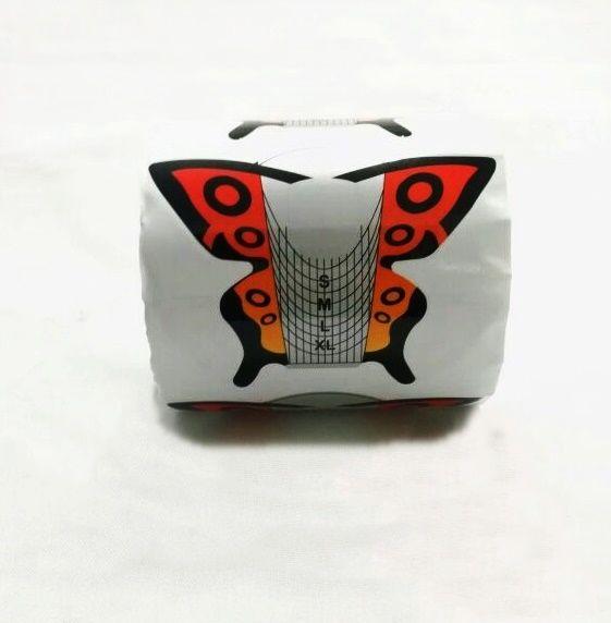 Moldes Adesivos Mariposa Para Unha De Porcelana E Gel c/ 300 un