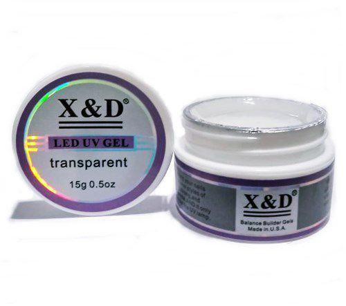 3 Gel Clear Transparente Led Uv X&D 15gr Para Unhas Gel e Acrigel X & D