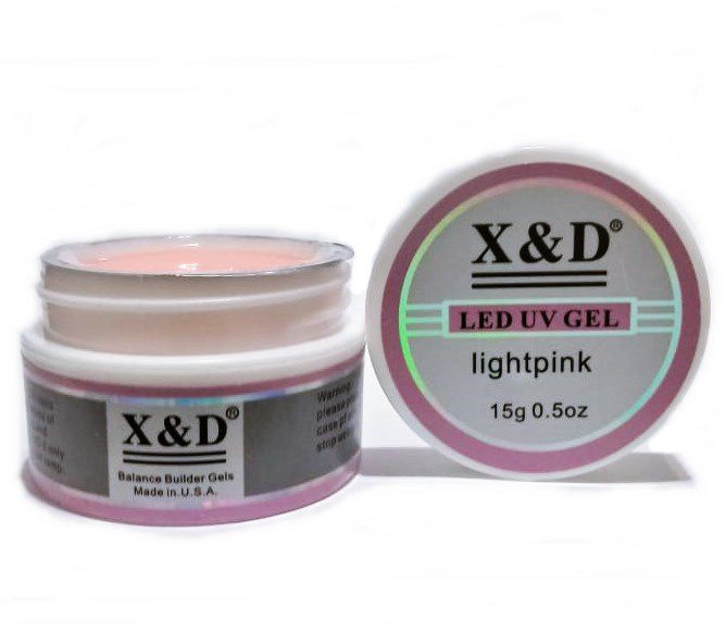 3 Gel Pink Light Led Uv X&D 15gr Para Unhas Gel e Acrigel X & D