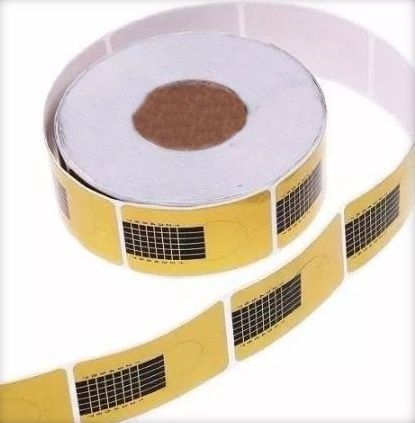 Moldes Adesivos De Papel Para Unha De Porcelana E Gel c/ 500 un