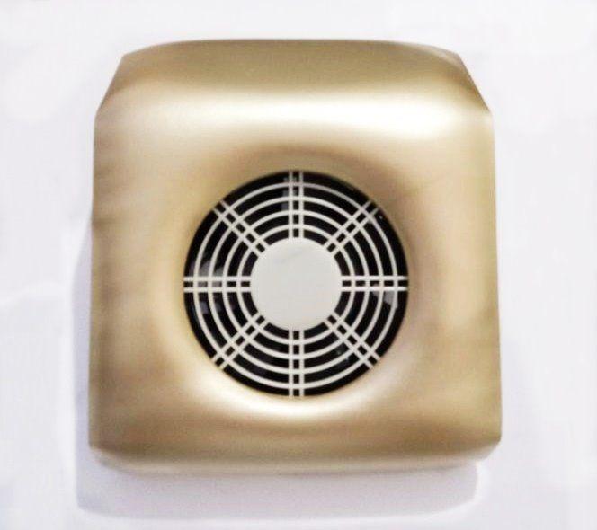 Aspirador Coletor de Pó Unha Gel 110v Dourado