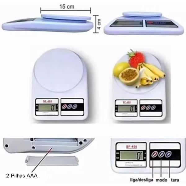 Balança Cozinha Digital 10kg Alta Precisão Dieta E Nutrição