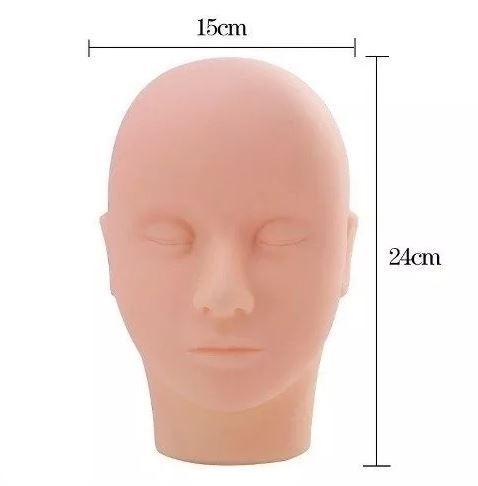 Cabeça De Treino Para Micropigmentação De Cílios E Maquiagem
