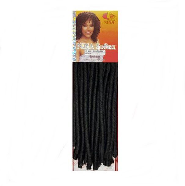 Cabelo Sintético Cacheado Nina Softex 85 Cm 100 Gr Crochet Cor 1