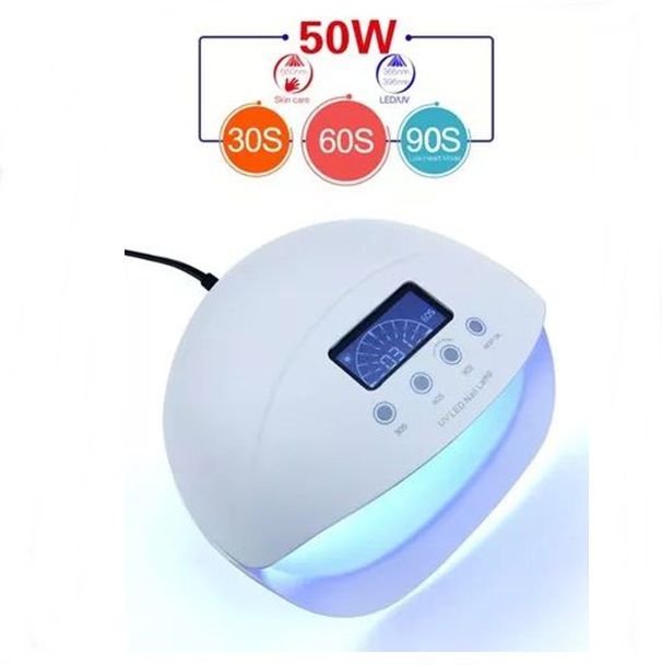 Cabine JP 50w Uv Led E Red Light Trata Fungos Unha Gel