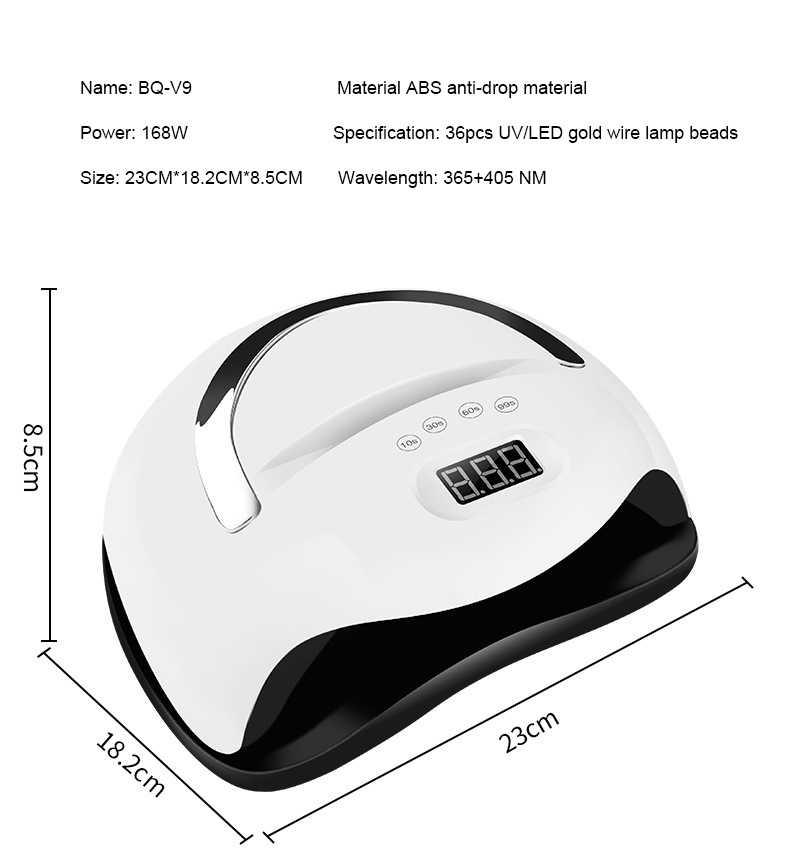 Cabine Led Uv Blueque V9 Digital Timer Sensor Bivolt 168w