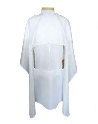 Capa Para Barbeiro Branca com Visor Transparente
