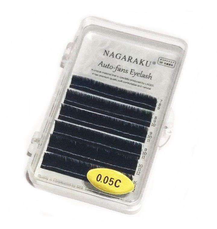 Cílios Nagaraku Auto Fans Eyelash Volume Russo 7-12mm 0.05 C