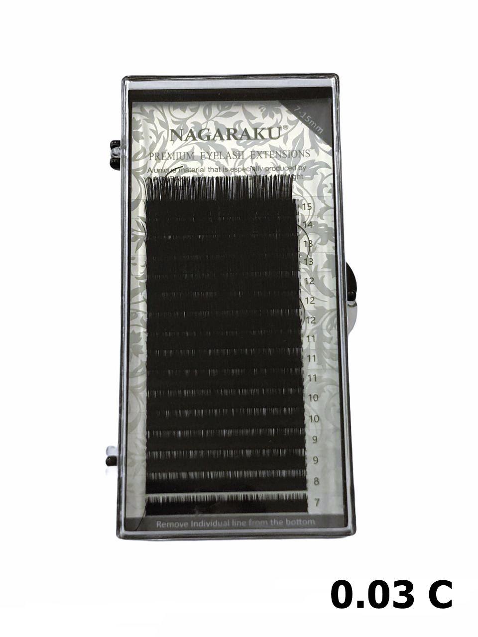 Cílios Nagaraku Premium Mink Mix 7-15mm Fio A Fio 0.03 C