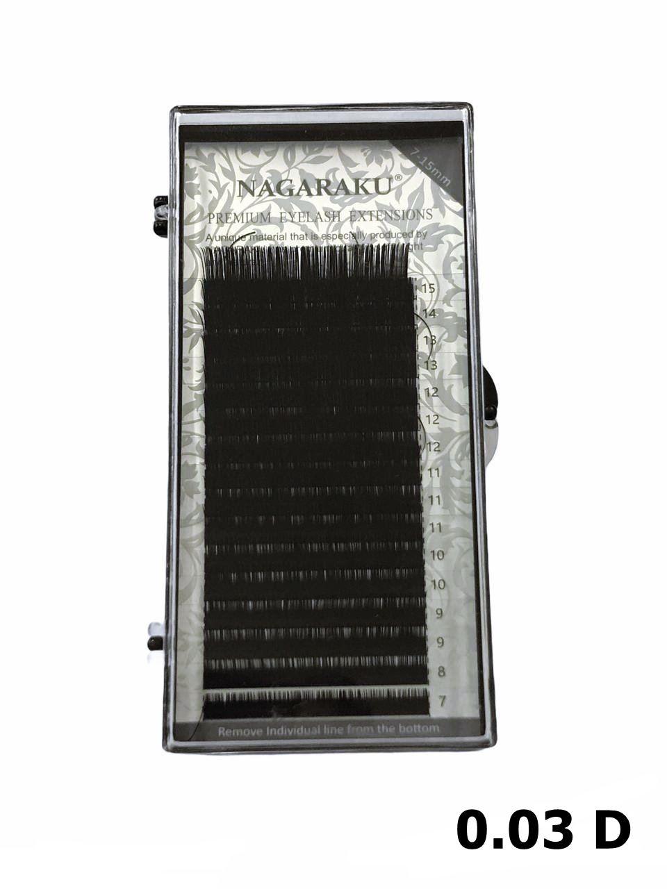 Cílios Nagaraku Premium Mink Mix 7-15mm Fio A Fio 0.03 D