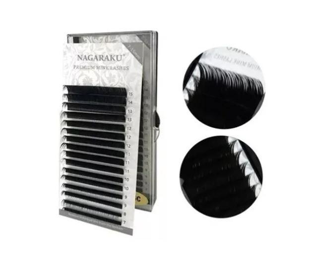 Cílios Nagaraku Premium Mink Mix 7-15mm Fio A Fio 0.07 D