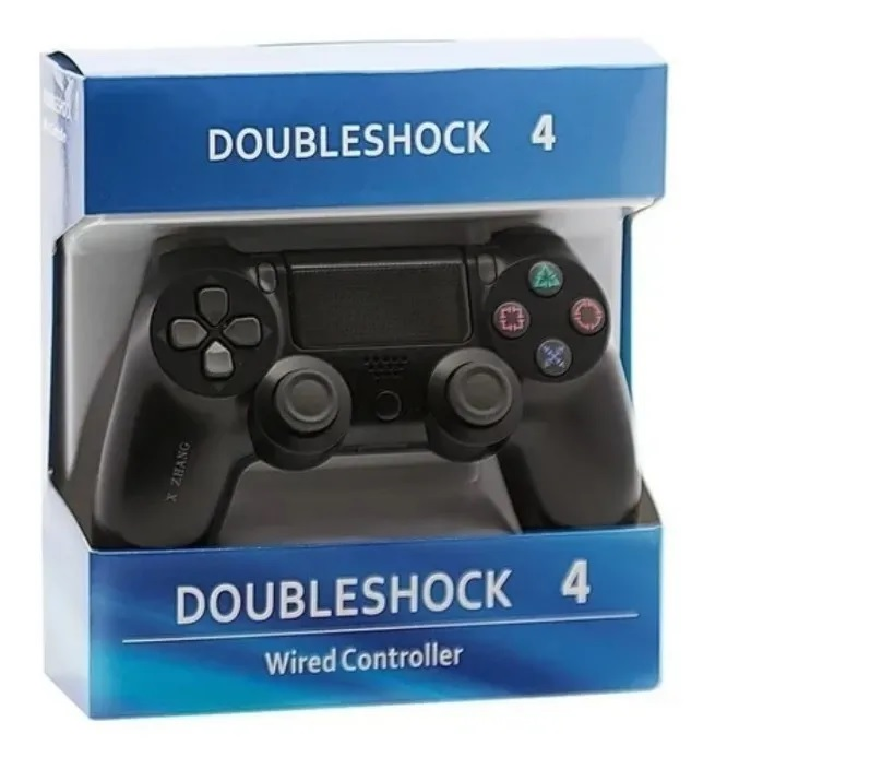 Controle Wired Ps4 Com Fio Joystick Doubleshock 4 Gamer Pc