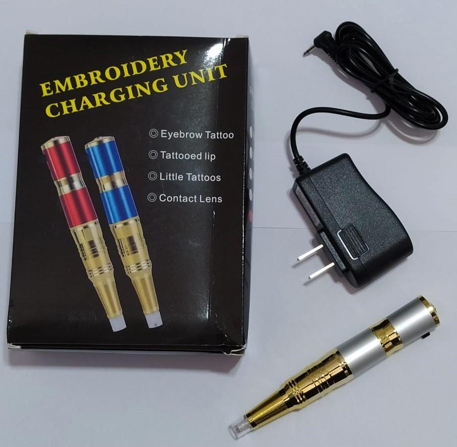 Dermógrafo Universal Cinza Para Micropigmentação Bivolt