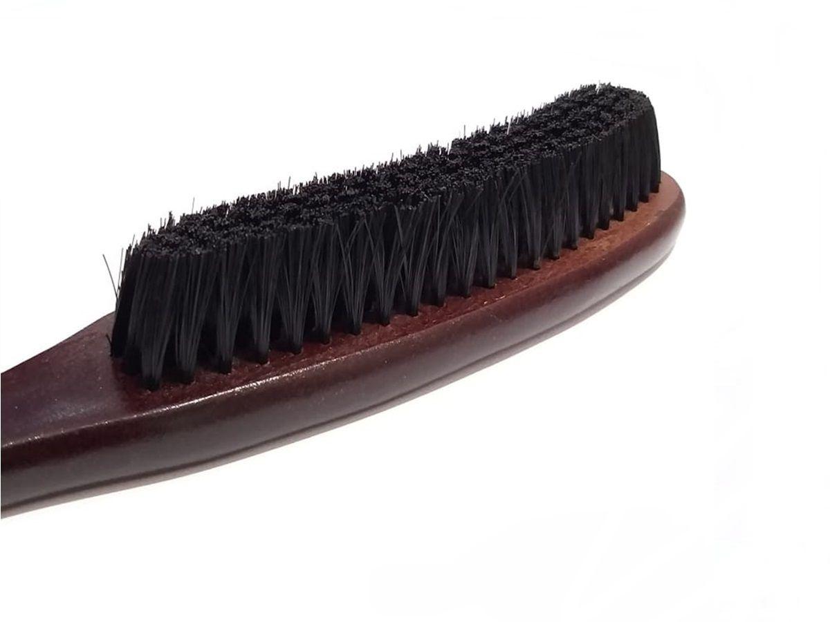 Escova Curva De Disfarce Degrade Cerda Sintética Barbeiro Cabeleireiro