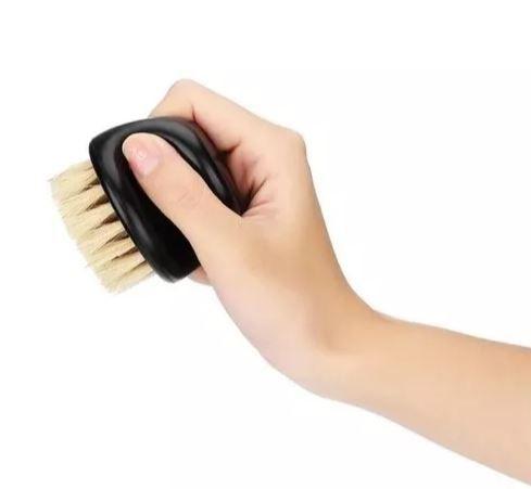 Escova Escovinha De Barbeiro Disfarce Cerdas Naturais Javali