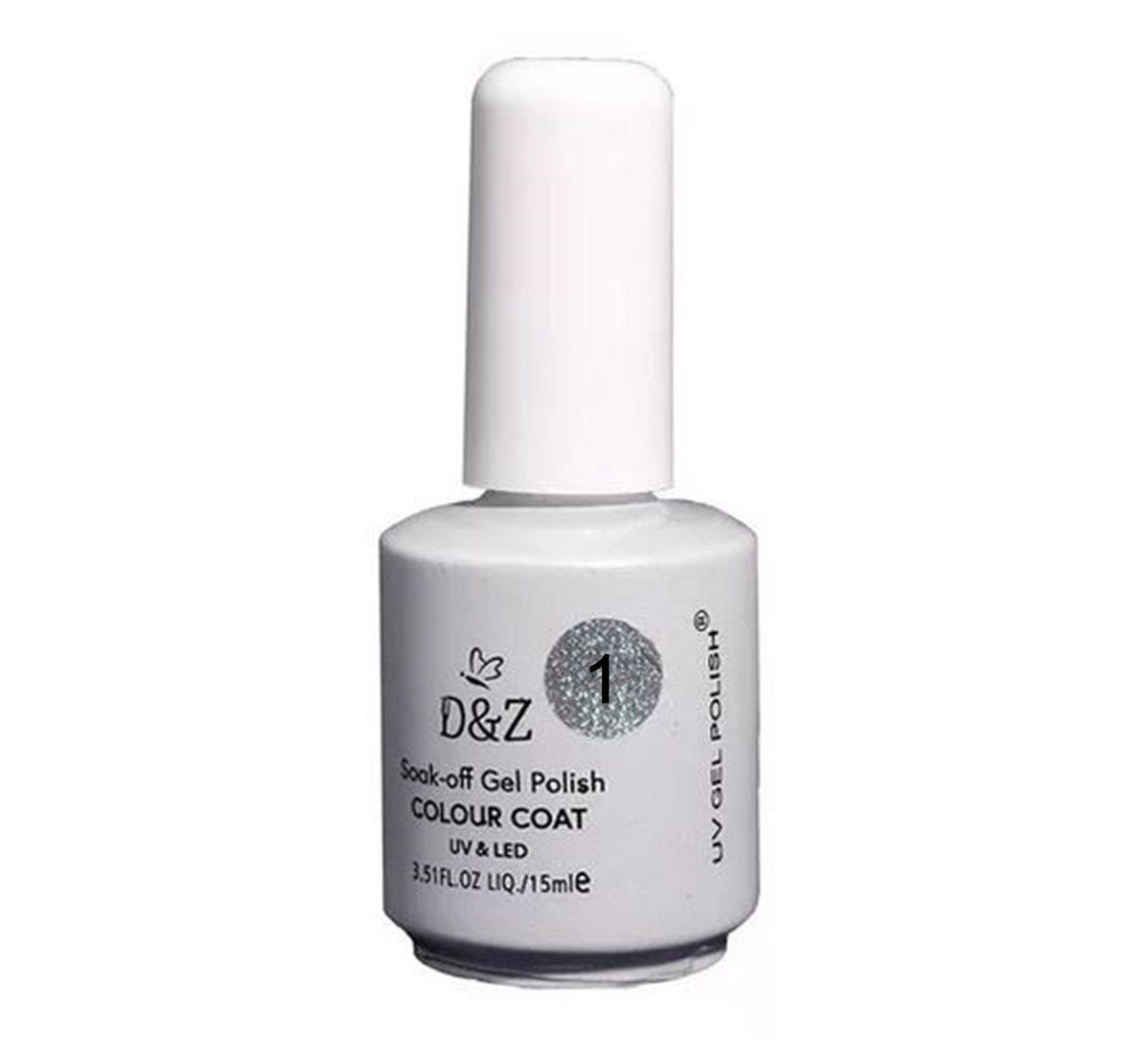Esmalte Em Gel D&Z Led Uv Branco Unha Gel D & Z 15ml