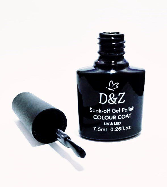 Esmalte Em Gel D&Z Led Uv Preto Unha Gel D & Z 7.5ml