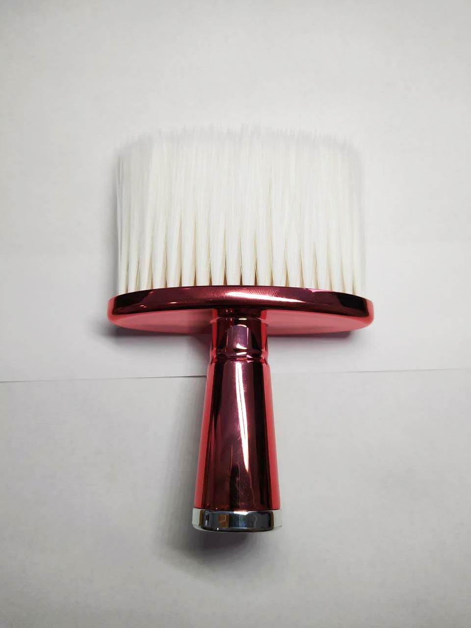 Espanador Pincel Para Barbeiro Cabeleireiro Profissional J060 Vermelho